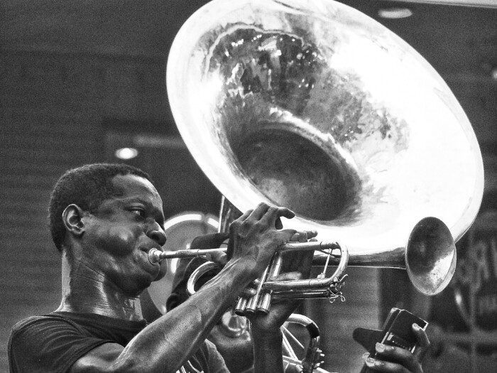 Musika kalean. New Orleans.