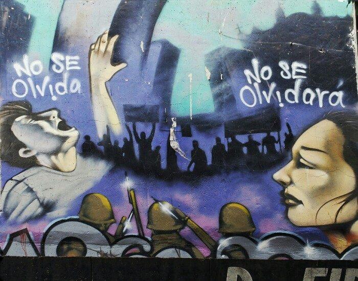 Tlatelolco plazako grafitia (Mexiko DF).