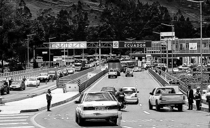 Rumicacha: Kolonbia eta Ekuador arteko muga.
