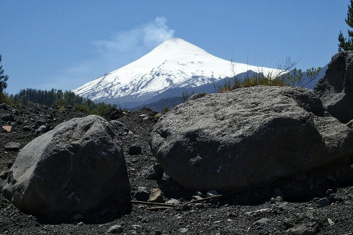Ruka Pillañ (Villarrica) sumendia. Pucón, Txile.