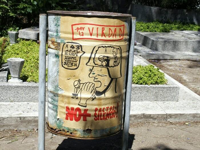 A 43 años del golpe, seguimos esperando justicia. Santiago, Txile.